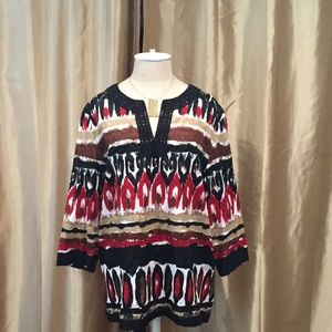 Alfred Dunner 100% Cotton Print Tunic-16